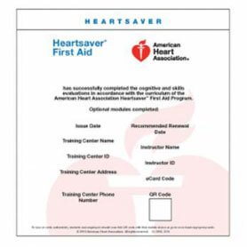 American Heart Association Course Completion Certificate Surprise AZ